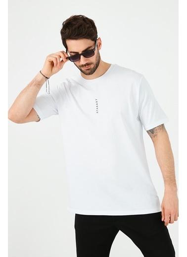 Buratti Buratti Oversize Yazı Baskılı Bisiklet Yaka % 100 Pamuk T Shirt Erkek T Shirt 5721021 Beyaz